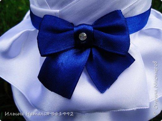 Свадебные бутылки в синем цвете фото 11