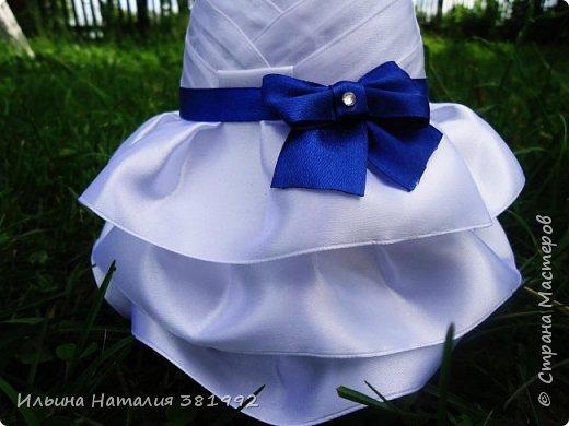 Свадебные бутылки в синем цвете фото 9