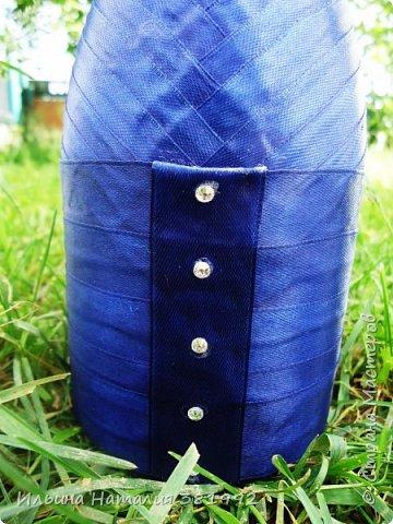 Свадебные бутылки в синем цвете фото 15
