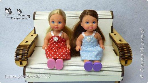 Для кукол Эви и Пенни сшила летние сарафанчики. Получилось очень мило:) А как вам новые наряды кукол?  Материалы: Ткань (хлопок), нитки, пуговицы. фото 2