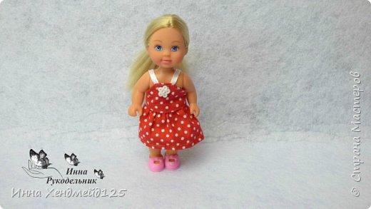 Для кукол Эви и Пенни сшила летние сарафанчики. Получилось очень мило:) А как вам новые наряды кукол?  Материалы: Ткань (хлопок), нитки, пуговицы. фото 4