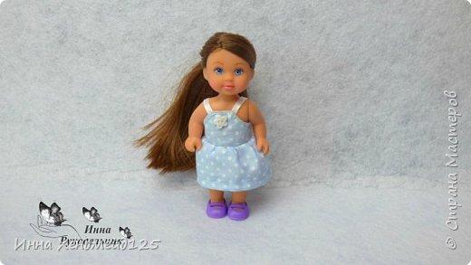 Для кукол Эви и Пенни сшила летние сарафанчики. Получилось очень мило:) А как вам новые наряды кукол?  Материалы: Ткань (хлопок), нитки, пуговицы. фото 5