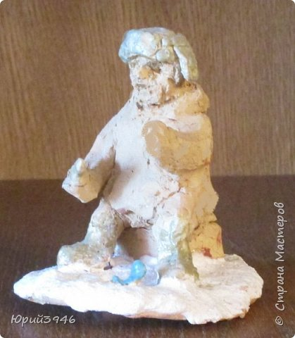 """Керамические фигурки из обычной """"кирпичной"""" глины, с глазурью. Размер фигурок около 6-7 см Фигурка собаки покрыта цветной глазурью. Первый обжиг - 980 С, второй - 920 С фото 5"""