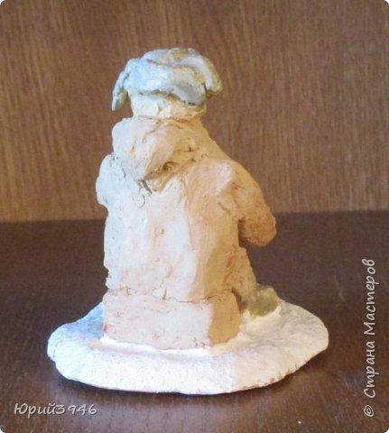 """Керамические фигурки из обычной """"кирпичной"""" глины, с глазурью. Размер фигурок около 6-7 см Фигурка собаки покрыта цветной глазурью. Первый обжиг - 980 С, второй - 920 С фото 7"""