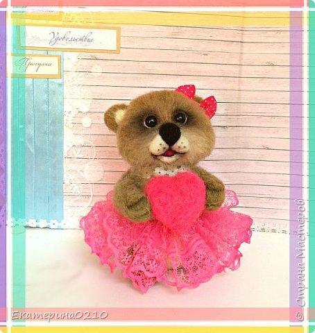 медведица  из шерсти  фото 3
