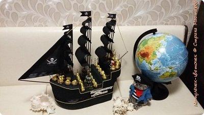 Корабль сделан по  чудесному МК мастерицы страны мастеров Аллы-Алушки. В МК описана очень подробно вся работа.  Спасибо мастерам за то,что делетесь своим опытом. фото 1