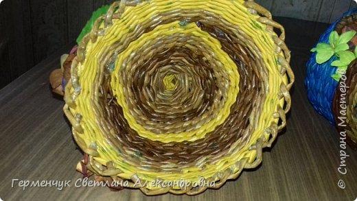 Добрый день , СМ !!!     Плетением я занимаюсь недавно , но , когда видела  чайные  гномодомики у мастериц , так хотелось такой сплести , но опасалась , что ничего не выйдет . В Стране Мастеров много  МК   И я попробовала  , вот что вышло. фото 32