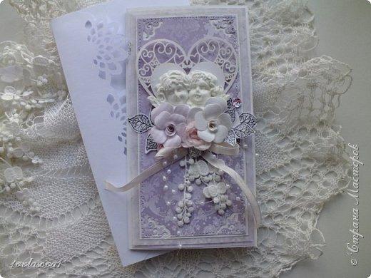 Здравствуйте,мои хорошие! Представляю на ваш суд открытку,сделанную на заказ к свадьбе. фото 2