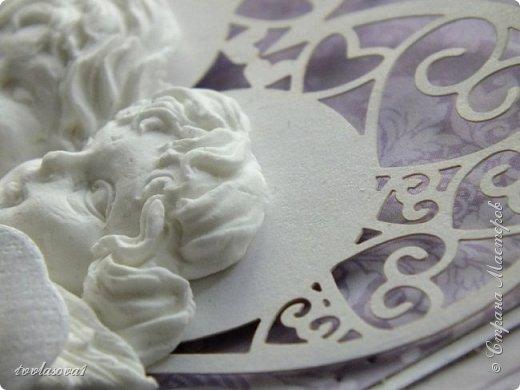 Здравствуйте,мои хорошие! Представляю на ваш суд открытку,сделанную на заказ к свадьбе. фото 7