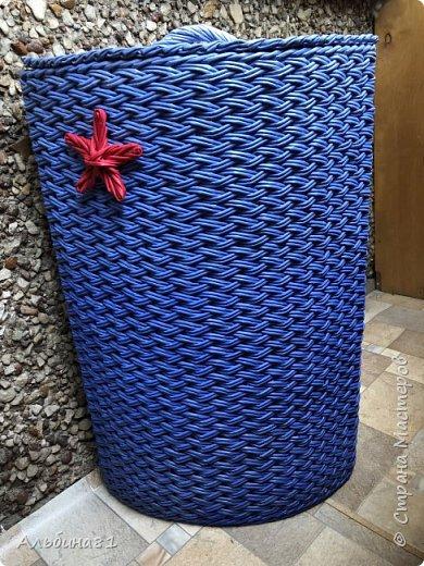Сплела новую корзину для белья.  фото 1