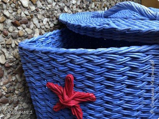 Сплела новую корзину для белья.  фото 3