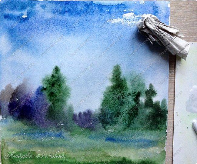 Пока на дворе лето, предлагаю тем, кто заинтересовался, выполнить такую несложную зарисовку.  фото 12
