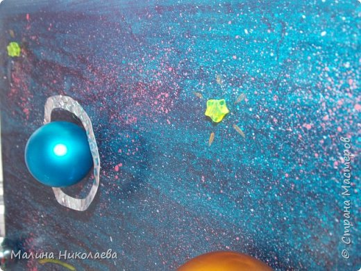 Делали объемную солнечную систему в начальную школу сыну, когда он учился еще в 3 классе. Сейчас он у нас семиклассник) Использовали рекламный щит с подножкой. фото 6