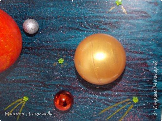 Делали объемную солнечную систему в начальную школу сыну, когда он учился еще в 3 классе. Сейчас он у нас семиклассник) Использовали рекламный щит с подножкой. фото 5
