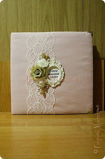 Здравствуйте, жители СМ. Я к вам с очередным свадебным набором. Цвет розовый с золотым. фото 2