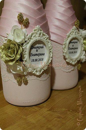 Здравствуйте, жители СМ. Я к вам с очередным свадебным набором. Цвет розовый с золотым. фото 5