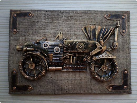 Всем огромный привет!!! Представляю Вашему вниманию два мастер-класса: ключницу с мотоциклом и панно с ретро-автомобилем: