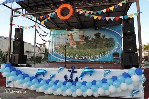 На День села оформляла сцену в морской тематике,шила флажки,делала якорь... фото 2