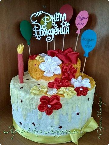 """""""Тортик"""" в Детский сад для поздравления именинников. Шарики с именами, будут меняться каждый месяц. фото 3"""