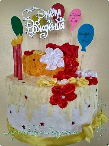 """""""Тортик"""" в Детский сад для поздравления именинников. Шарики с именами, будут меняться каждый месяц. фото 1"""