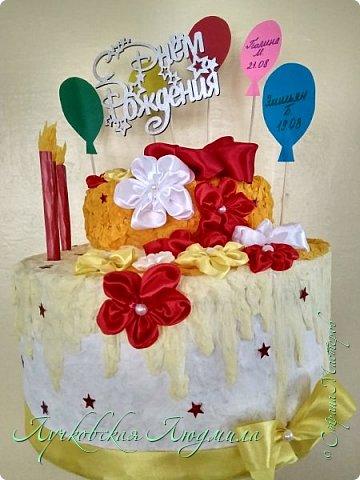 """""""Тортик"""" в Детский сад для поздравления именинников. Шарики с именами, будут меняться каждый месяц. фото 2"""