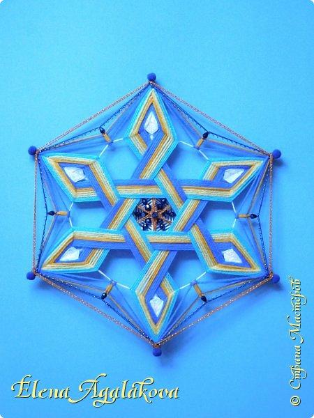 Моя новая мандала. В основе - 6-ти конечная звезда. Шестилучевая звезда один из древнейших символов, которыми пользуется человечество. Чаще всего в этот символ вкладывается идея взаимодействия(взаимопроникновения) двух начал, каждое из которых символизирует один из двух треугольников, составляющих звезду. На сегодняшний день изображение шестиконечной звезды археологи находят практически по всей планете. Разные народы использовали звезду в своих целях. Но многие из них признавали, что в ней присутствует особенная гармония, а также художественная целостность, отражающая равновесие мира. фото 4