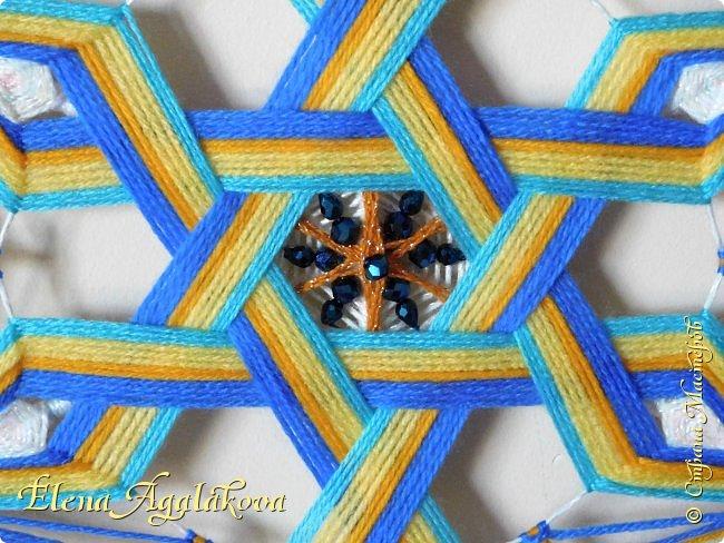 Моя новая мандала. В основе - 6-ти конечная звезда. Шестилучевая звезда один из древнейших символов, которыми пользуется человечество. Чаще всего в этот символ вкладывается идея взаимодействия(взаимопроникновения) двух начал, каждое из которых символизирует один из двух треугольников, составляющих звезду. На сегодняшний день изображение шестиконечной звезды археологи находят практически по всей планете. Разные народы использовали звезду в своих целях. Но многие из них признавали, что в ней присутствует особенная гармония, а также художественная целостность, отражающая равновесие мира. фото 3