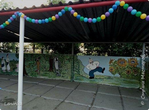 """В этом году веранду в садике решила разукрасить по мотивам мультфильма """"Жил был пес"""" Вот что у меня вышло. фото 8"""