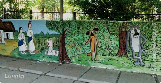 """В этом году веранду в садике решила разукрасить по мотивам мультфильма """"Жил был пес"""" Вот что у меня вышло. фото 1"""