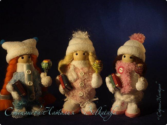 Доброго дня! Сделала ещё трёх куколок, пожалуй, остановлюсь на этом. Приглашаю посмотреть. фото 1