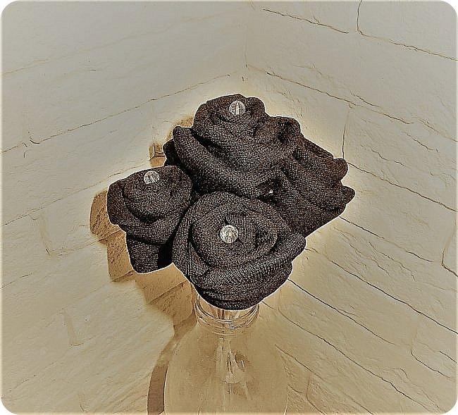 Роза из носка фото 10