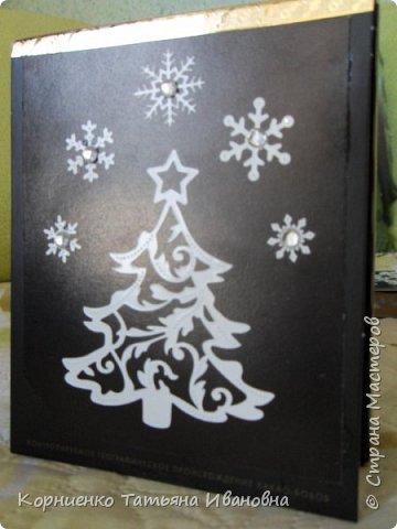 Набралось у меня несколько коробочек из под щоколада, а внутренний хомяк не давал выкинуть такую интересную маленькую вещичку. Первое , что пришло в голову. это сделать новогодние подарочки соседкам:) . фото 12