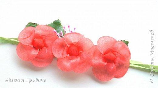 Ободок с пышными цветами. Основа для ободка пластиковая, искусственные цветы и листья (брала те которые можно стирать), пестики и тычинки :) Все закрепляла на клей. фото 9