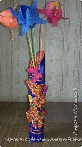 Доброе утро СМ!!!  Представляю Вам вазу из  бросового материала  фото 21