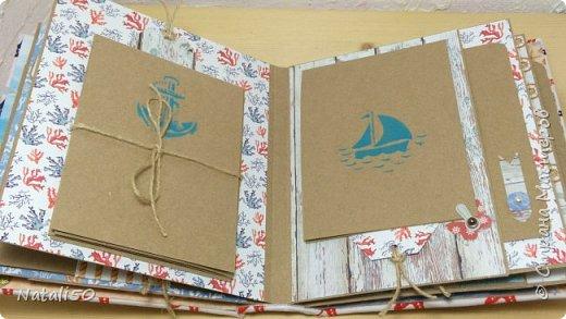 Доброго всем вечера! Хочу поделиться своими новыми работами. Морской альбомчик и блокнот. Альбом получился фотографий на 40-45. фото 4