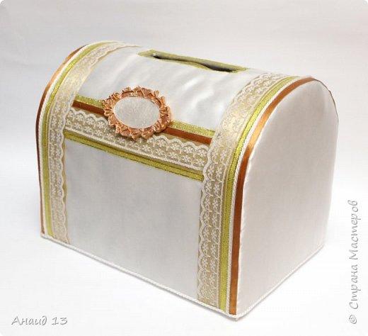 Свадебный набор в золотисто бежевых тонах. фото 7