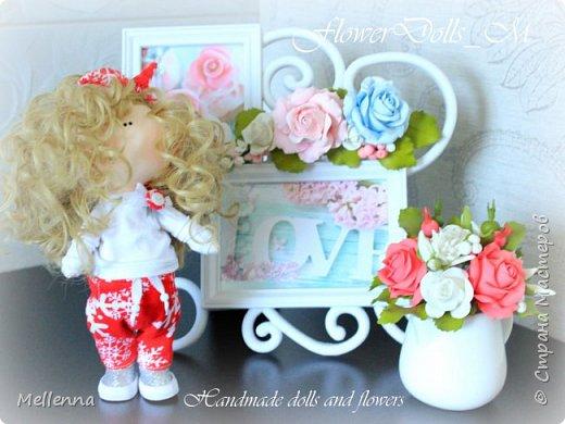 Кудряшка Ксю - необыкновенно милая и в тоже время озорная куколка!  Эта милаха уже живет в Австралии!  Ростик 23 см.  Куколка  выполнена из хлопкового трикотажа Одежда - трикож Обувь - фоамиран Наполнитель - холофайбер Волосы - трессы для кукол фото 1
