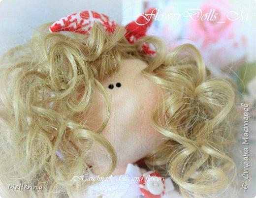 Кудряшка Ксю - необыкновенно милая и в тоже время озорная куколка!  Эта милаха уже живет в Австралии!  Ростик 23 см.  Куколка  выполнена из хлопкового трикотажа Одежда - трикож Обувь - фоамиран Наполнитель - холофайбер Волосы - трессы для кукол фото 5