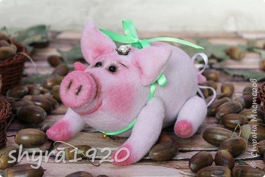 Эта свинка резво пляшет, Эта - хвостиком нам машет, Эта - моет пятачок, Эта - носит паричок. Эта кушает коврижку, И зовут ее Малышка.  Автор: Доброта Н.  фото 1