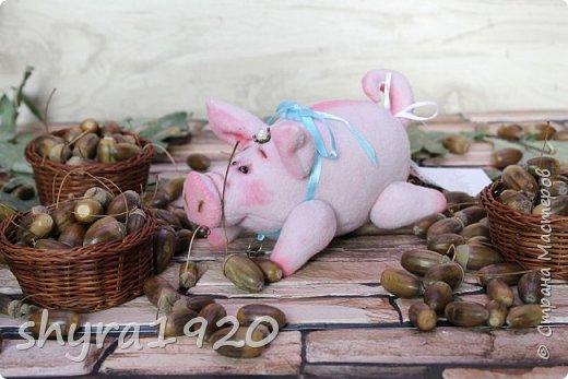 Эта свинка резво пляшет, Эта - хвостиком нам машет, Эта - моет пятачок, Эта - носит паричок. Эта кушает коврижку, И зовут ее Малышка.  Автор: Доброта Н.  фото 10