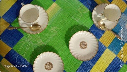 Скатерть в стиле пэчворк (техника борджелло) и отстрочена свободно-ходовой машинной строчкой. фото 4