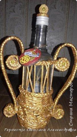 Добрый вечер  СМ!!!   На просторах Интернета увидела  декоративную бутылку и решила повторить. фото 25