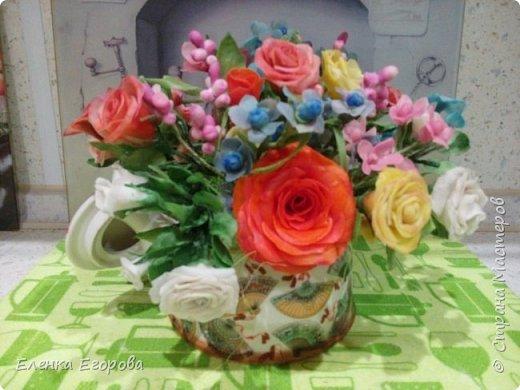 Цветы в чайнике фото 1