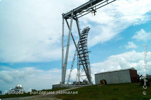 Пожалуй самым необычным и впечатляющим была поездка в обсерваторию. К сожалению был выходной и мы не попали на полноценную экскурсию, во внутрь Большого телескопа. Но само осознание, что ты находишься так высоко, в САМОМ крупном астрономическом центре России, вызывает небывалый восторг. фото 10