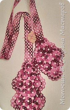 Всем доброго дня))) Сплелись в подарок вот такие вещицы. Это воротник-галстук (по схеме Яна Ставаша) фото 1