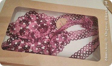 Всем доброго дня))) Сплелись в подарок вот такие вещицы. Это воротник-галстук (по схеме Яна Ставаша) фото 8