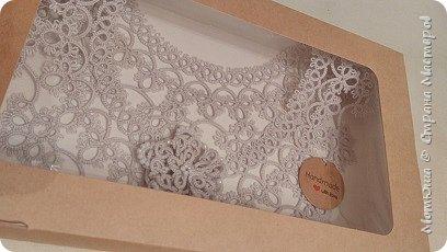 Всем доброго дня))) Сплелись в подарок вот такие вещицы. Это воротник-галстук (по схеме Яна Ставаша) фото 9
