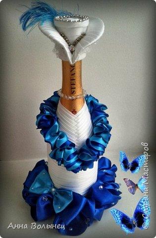 Вот такая дамочка в бело-голубом получилась в подарок на день рождения начальницы моей мамы. фото 1