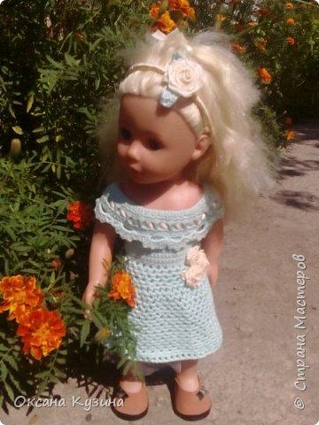 Платье для кукол и ободок фото 2