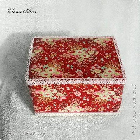 Коробки из картона,в 2 слоя + плотная белая бумага вогруг и потом еще материей обнлеивала фото 4